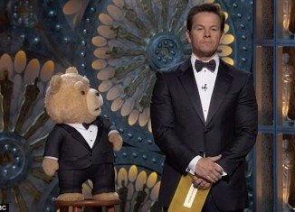 Seth MacFarlane caused outrage among viewers when his Ted alter-ego took to the stage at Sunday night's ceremony with Mark Wahlberg