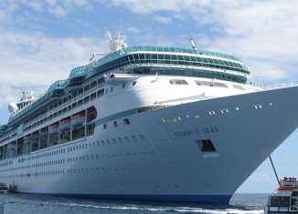 At least 105 people fell ill with a stomach virus on an 11-day Royal Caribbean International cruise ship that returned to South Florida Friday
