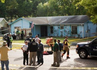 Demolition crews have partially razed Florida home of Jeffrey Bush, who is presumed dead after he was swallowed up by a sinkhole under his bedroom