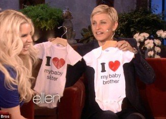 Jessica Simpson admits on The Ellen show that was a surprise to learn she was expecting another baby when her daughter Maxwell was less than a year old