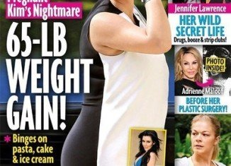 Kim Kardashian squashed rumors that she had hit the whopping 200 lbs mark so far in her pregnancy