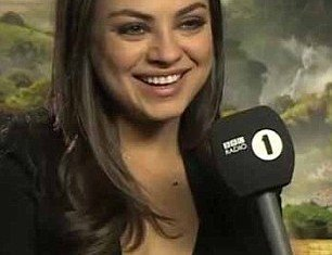 Mila Kunis sat down for an interview on Monday with Radio 1's Chris Stark but she had no idea what she was letting herself in for