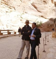 President Barack Obama is ending his Middle East tour with a trip to the famous ruins of the ancient city of Petra in Jordan