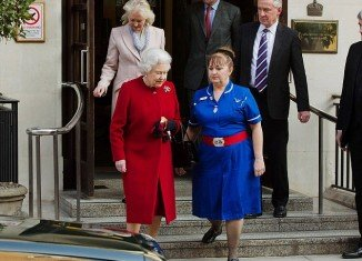 Queen Elizabeth II has left hospital in central London after being assessed for gastroenteritis symptoms