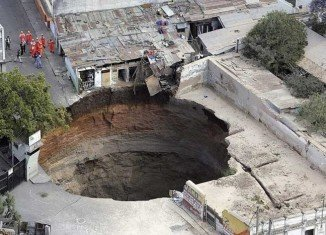 Sinkholes, or dolines, often take thousands of years to form and vary hugely in size