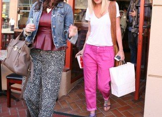 Tori Spelling was pictured out in her Beverly Hills stomping ground looking suddenly trim