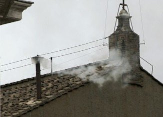 White smoke pouring from the Sistine Chapel chimney has announced to the world that cardinals gathered inside have elected a new Pope to head the Catholic Church