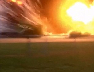 A man accompanied by his child has captured the moment of the huge explosion at West Fertilizer plant in Texas