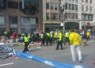 At least two people have been killed and 22 injured after two explosions at the finish line of this year Boston Marathon