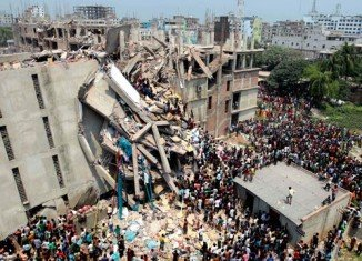 Bangladeshi police has arrested two owners of garment factories in the building that collapsed on the outskirts of the capital Dhaka this week killing at least 336 people