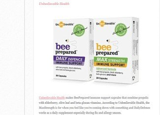 Bee Prepared is an immune support vitamin packed with powerful antioxidants and bee propolis