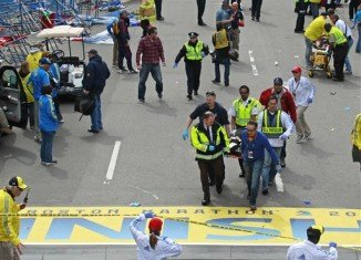 Boston Marathon explosions killed at least two people and injured up to 60 after two large bombs went off near the finish line of the famous race