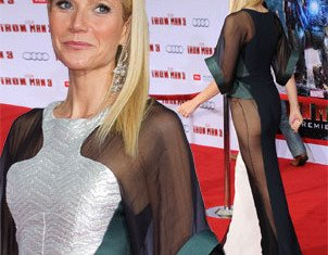 Gwyneth Paltrow on the red carpet at the Marvel's Iron Man 3 premiere the in Los Angeles