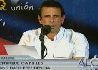 """Henrique Capriles has threatened to take action over disputed votes he claims were """"stolen"""" by Nicolas Maduro's government"""