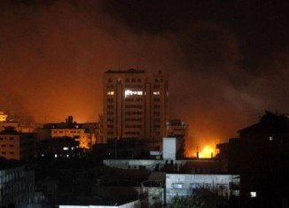Israel has launched an air strike on the Gaza Strip for the first time since an eight-day war ended in a truce in November 2012