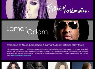 """Khloe Kardashian and Lamar Odom have removed all of the items for sale on their eBay store after they faced allegations of running """"fraudulent"""" cancer charity Cathy's Kids"""