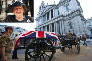 Military rehearsal of former PM Margaret Thatcher's funeral procession in central London