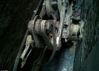 NYPD has found part of the landing gear of what is believed to be one of jets flown into the World Trade Center on September 11, 2001