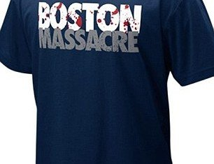 """Nike has decided to remove its T-shirts emblazoned with """"Boston Massacre"""" from shelves after outcry over their insensitivity in the wake of the city's bombings"""