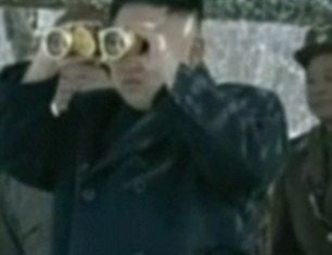 """North Korea has released footage showing its leader Kim Jong-un supervising a """"drone drill"""" attack amid tensions on the Korean peninsula"""