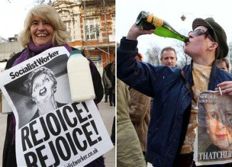 People who suffered from Margaret Thatcher's brutal policies as PM were celebrating the Iron Lady's death on the street
