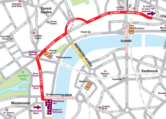 Road closures and travel issues on Margaret Thatcher's funeral procession route