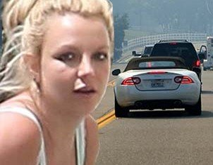 Britney Spears was seen racing towards California wildfire to get to her family as flames threaten to engulf their home