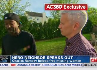 Charles Ramsey joined CNN's Anderson Cooper to re-tell the events of the heroic evening which led to the freedom of Amanda Berry, Michelle Knight and Gina DeJesus