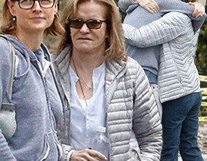 Jodie Foster and Cydney Bernard were spotted meeting up for a casual coffee date at Starbucks in Los Angeles' posh Bel-Air neighborhood