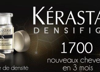 Kérastase Densifique, which has been hailed as a major breakthrough, stimulates the scalp to wake up dormant follicles