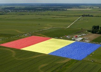 Romania broke the world record for the largest national flag making a triumphal entry in the famous Guinness World Records