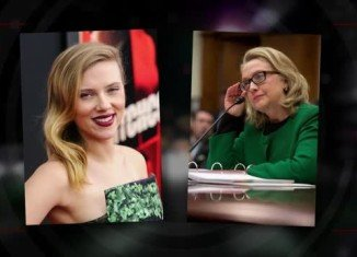 Scarlett Johansson is rumored to portray Hillary Clinton in the upcoming biopic, Rodham