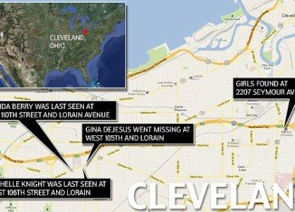 The three missing women in Cleveland who were abducted a decade ago were all last seen on the same busy block in the city