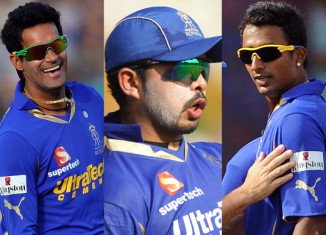 Three Indian cricketers have been arrested over allegations of spot-fixing in the Indian Premier League
