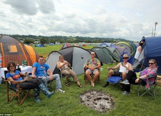 Glastonbury festival is due to get under way in two days' time, but for thousands of music fans the race to pitch their tents is now in full flow