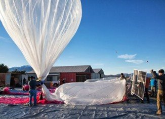 Google launches internet-beaming balloons into near space