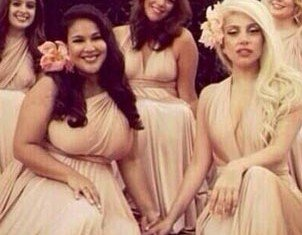 Lady Gaga took a step out of the spotlight as a bridesmaid at her best friend's wedding