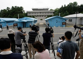 North Korean and South Korean officials hold key talks at Panmunjom, a military compound in the demilitarized zone between the two countries