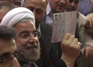 Official figures give Hassan Rouhani more than 51 percent of the five million ballots counted so far