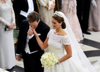 Princess Madeleine of Sweden turned fairytale bride as she married American banker Christopher O'Neill watched by European royals and the cream of New York society