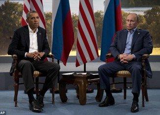 US President Barack Obama and Russian President Vladimir Putin at the G8 summit in Northern Ireland