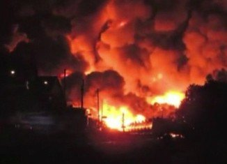 A freight train carrying petrochemicals has exploded in Canadian town Lac-Megantic, forcing the evacuation of up to 1,000 people