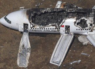 Asiana Airlines shares fell nearly 6 percent in Seoul, after one of its planes crash landed in San Francisco