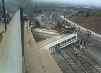 At least 10 people are reported killed after a train has derailed near Santiago de Compostela in north-western Spain