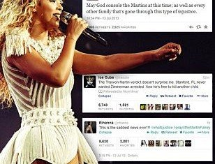 Beyonce stopped her concert and called for a moment of silence for Trayvon Martin