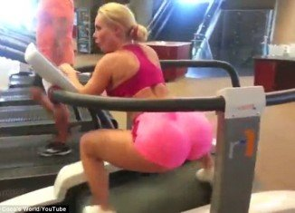 Coco Austin has given fans an eye-popping glimpse at her workout routine