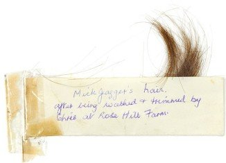 Mick Jagger's hair fetches $6,300 at Bonhams auction in London