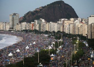 More than three million people are estimated to have gathered for Pope Francis' final service in the city of Rio de Janeiro