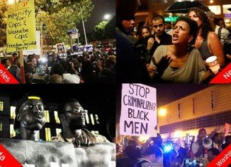 Protestors gathered in major cities across the US late into the night after George Zimmerman was found not guilty in the Trayvon Martin case