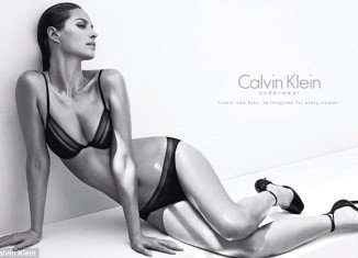 Supermodel Christy Turlington has made a triumphant return to Calvin Klein as the face of their new women's underwear range at the age of 44